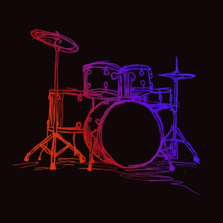 Drum Kit Sketch Tshirt